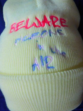Yellow Beanie Hat with Beware