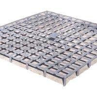 Floor grill grate 34 x 32 x 2 cm